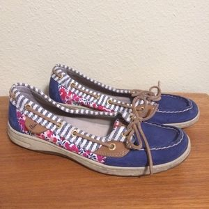 Sperry Angelfish Liberty floral loafers boat shoes